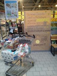 Zbiórka żywności dla Pogorzelców w Kauflandzie